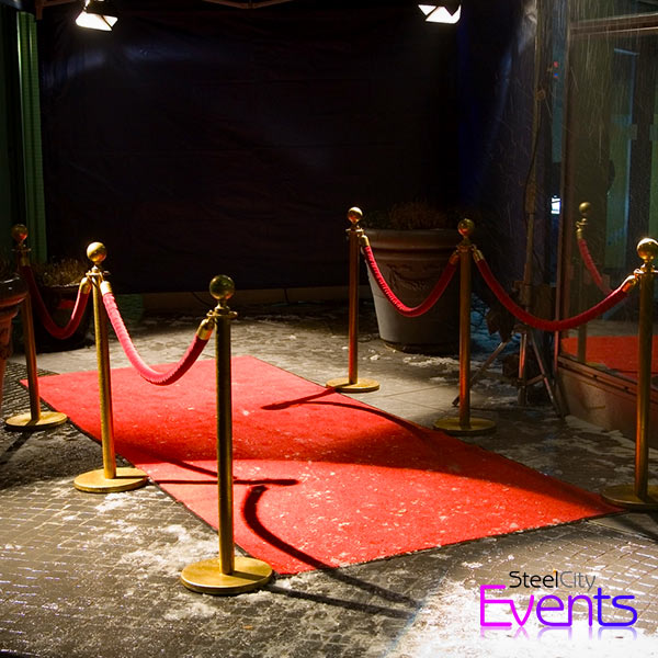 Classic Red Carpet Entrance