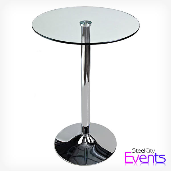 Glass Poseur Tables